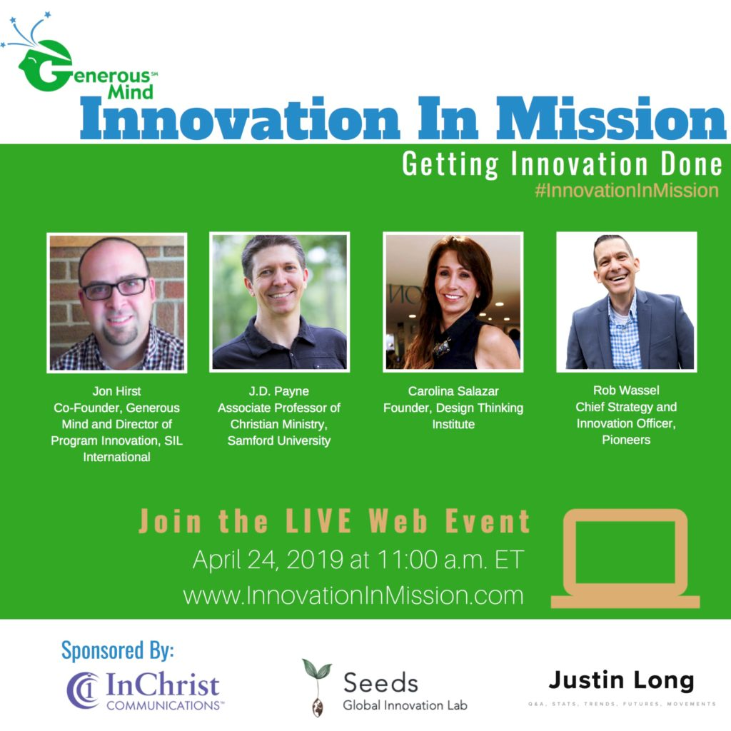 "Online ""Innovation Forum"" on April 24 aims to help cause-oriented nonprofits carry ideas through to completion, says think-tank Generous Mind"