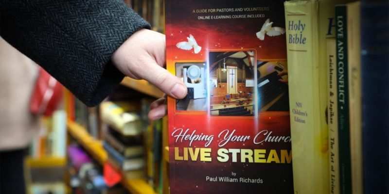 "Paul William Richards will be shipping copies of his book, ""Helping Your Church Live Stream,"" to as many houses of worship during the coronavirus outbreak."