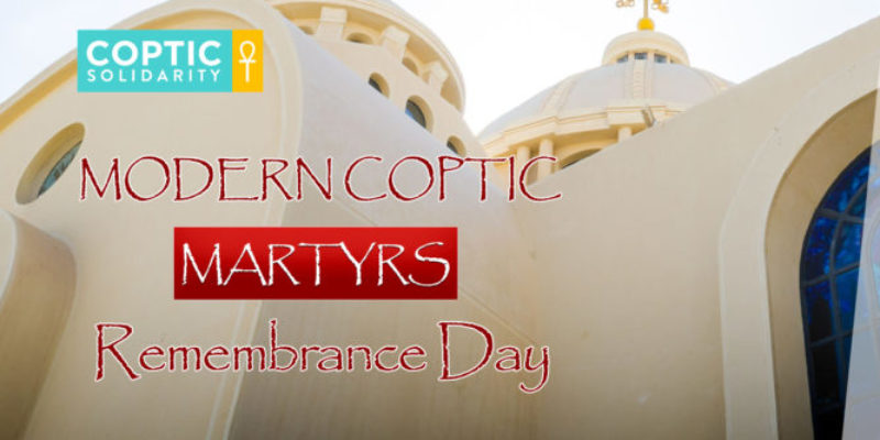Coptic Solidarity's 5th Annual Modern Coptic Martyrs Day will be hosted on Zoom this Friday, October 9th at 2 PM, Eastern Standard Time