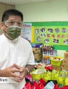 Pastor Wen is preparing supplies for Wanhua residents in Taiwan who were caught unprepared for the sudden spike in COVID cases.